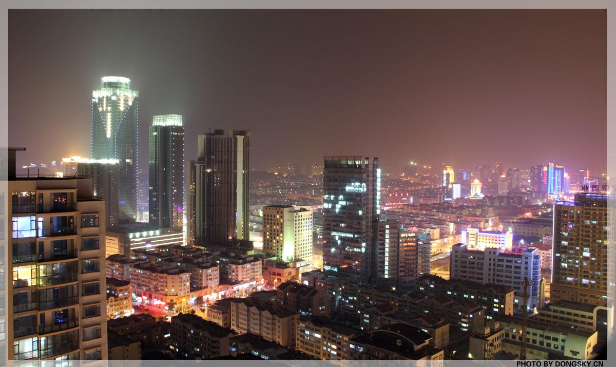 站在青岛开发区标志性建筑中冶东方大厦楼顶,遥望开发区最繁华的商业